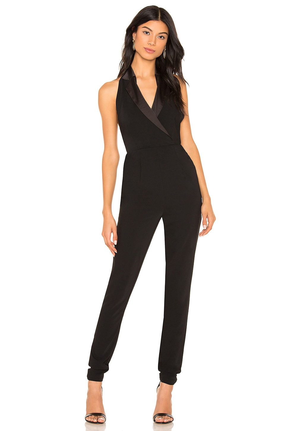 by the way. Melanie Halter Tuxedo Jumpsuit in Black