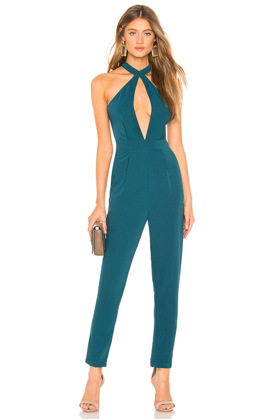 by the way. Willow Cut Out Jumpsuit in Green