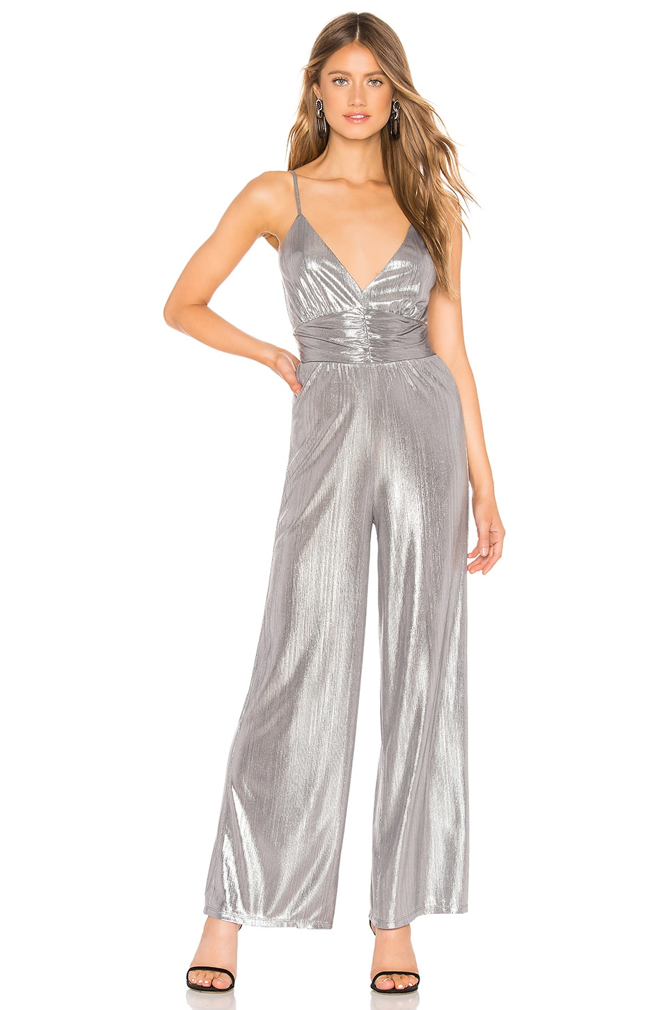 by the way. Dalia Jumpsuit in Silver