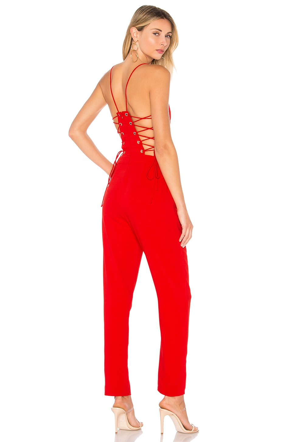 by the way. Kathleen Strappy Jumpsuit in Red