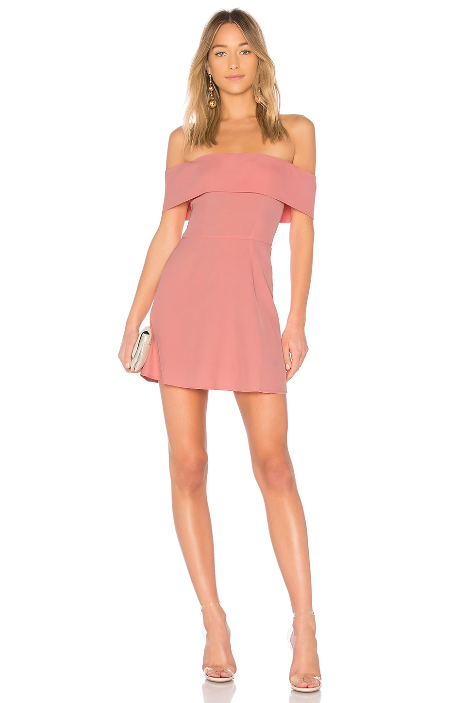 by the way. Aubrey Off Shoulder Dress in Pink