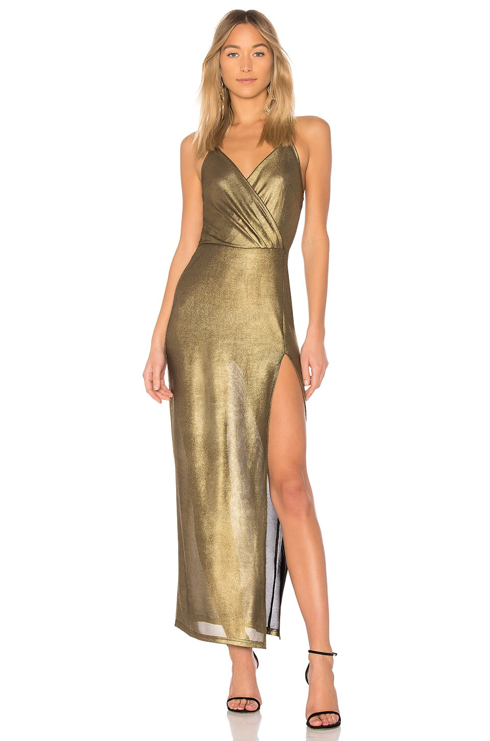 by the way. Jessa Maxi Dress in Gold