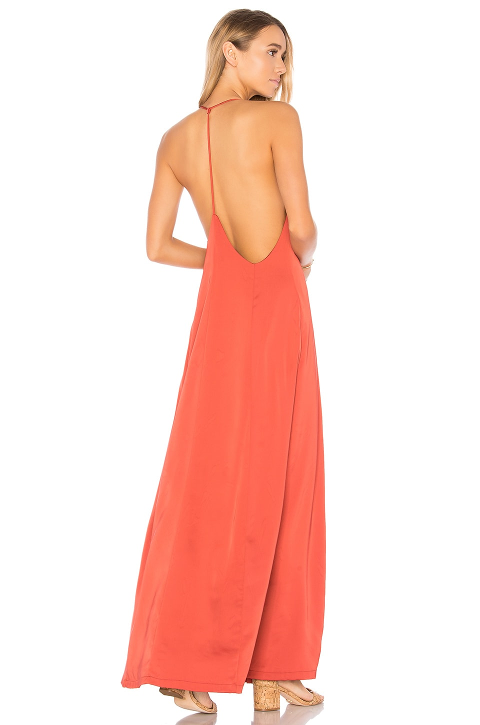 Tess Satin Maxi Dress by by the way.