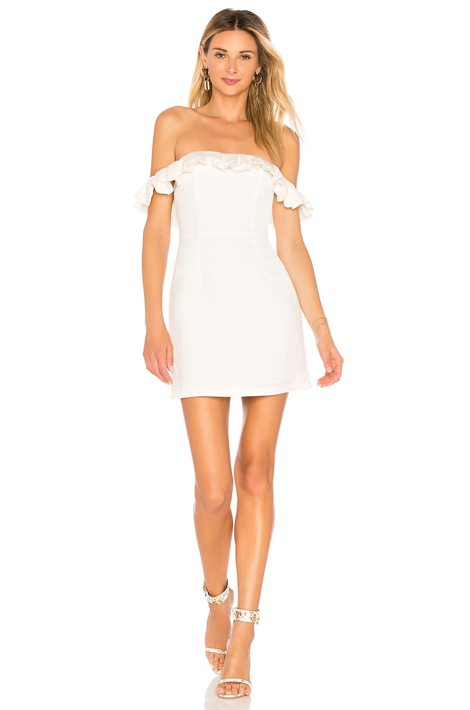 Emery Off The Shoulder Dress in Ivory. - size M (also in L,S,XL,XS,XXS) by the way.