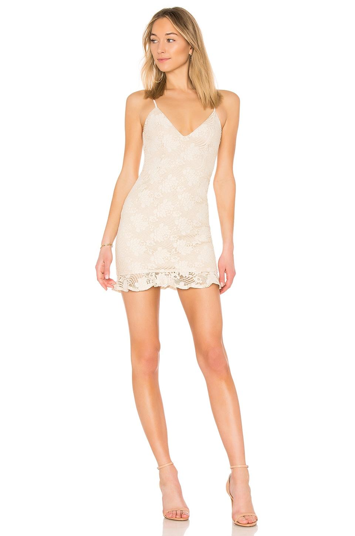superdown Sharon Ruffle Dress in Ivory
