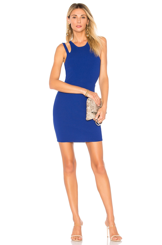 superdown Briela Cut Out Bodycon Dress in Cobalt