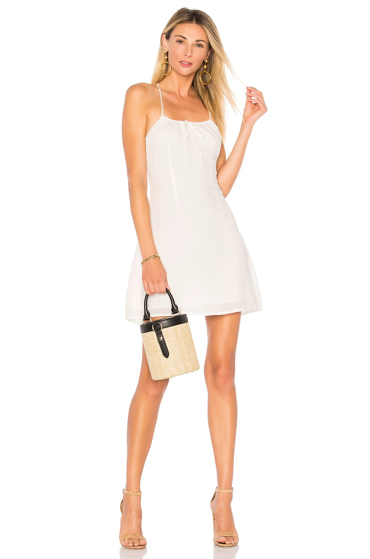 superdown Ellen Racer Back Dress in Ivory