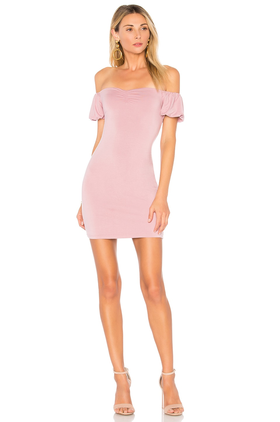 by the way. Laurel Off Shoulder Dress in Mauve