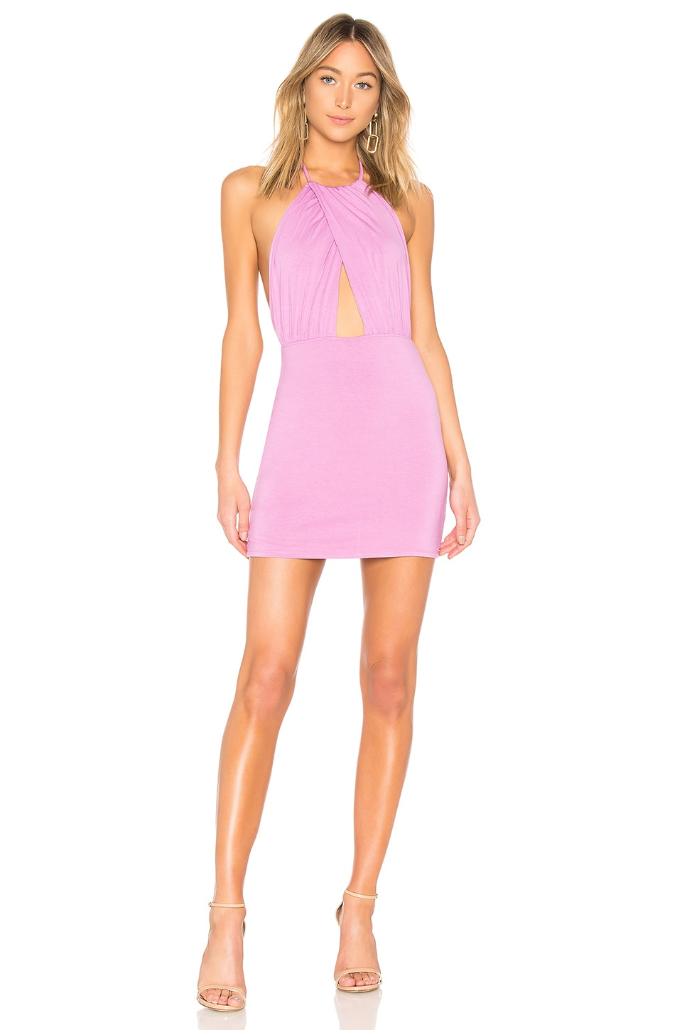 by the way. Rosie Halter Mini Dress in Lilac