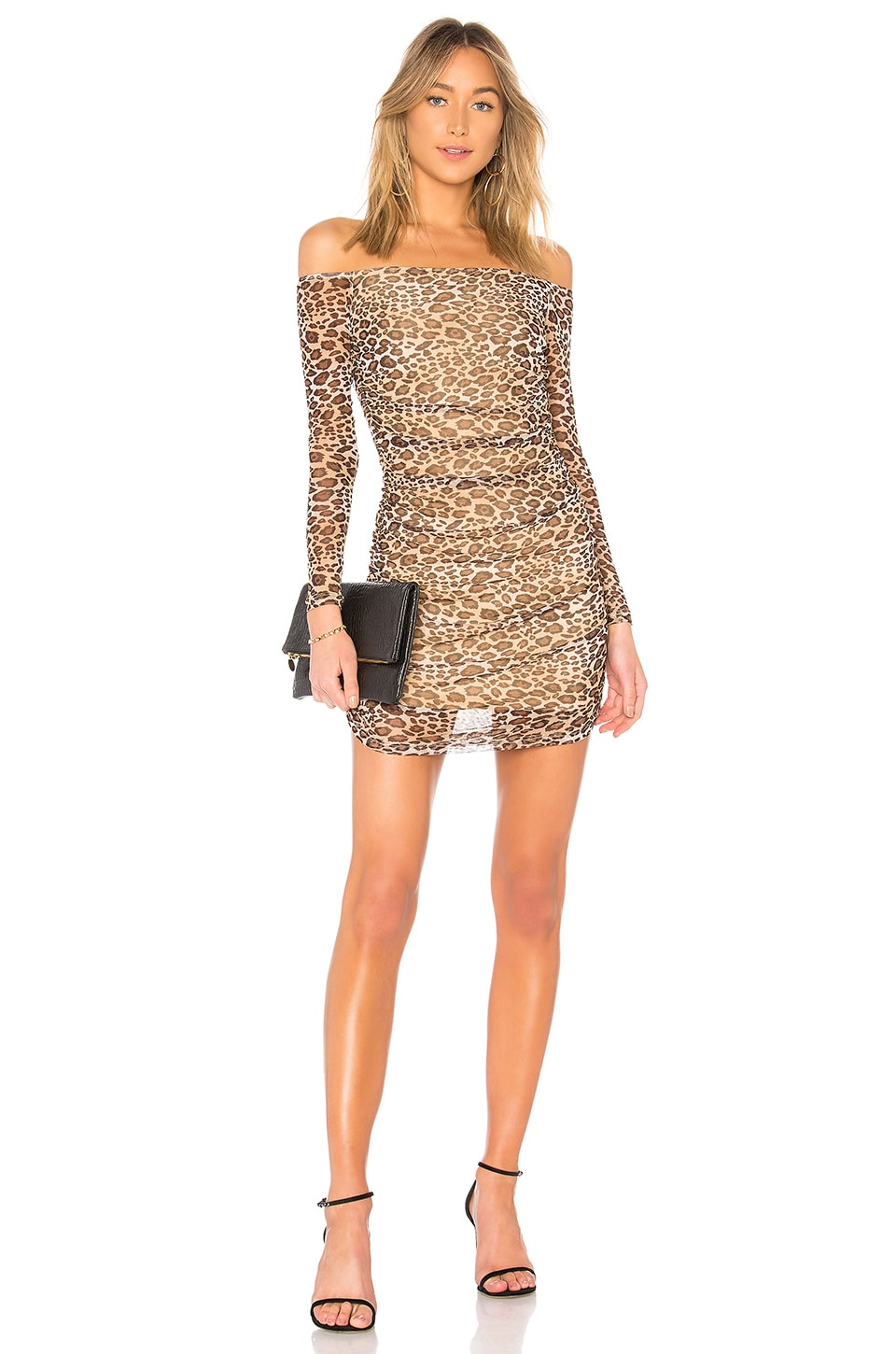 Adley Mesh Leopard Dress