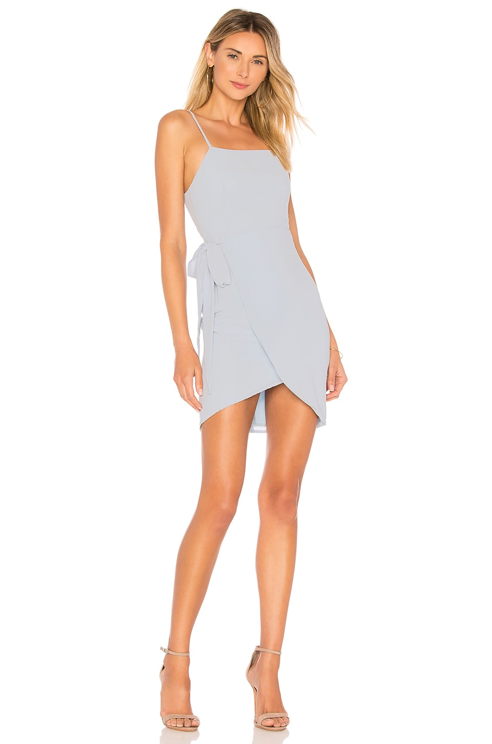 superdown Morgan Layered Mini Dress in Light Blue