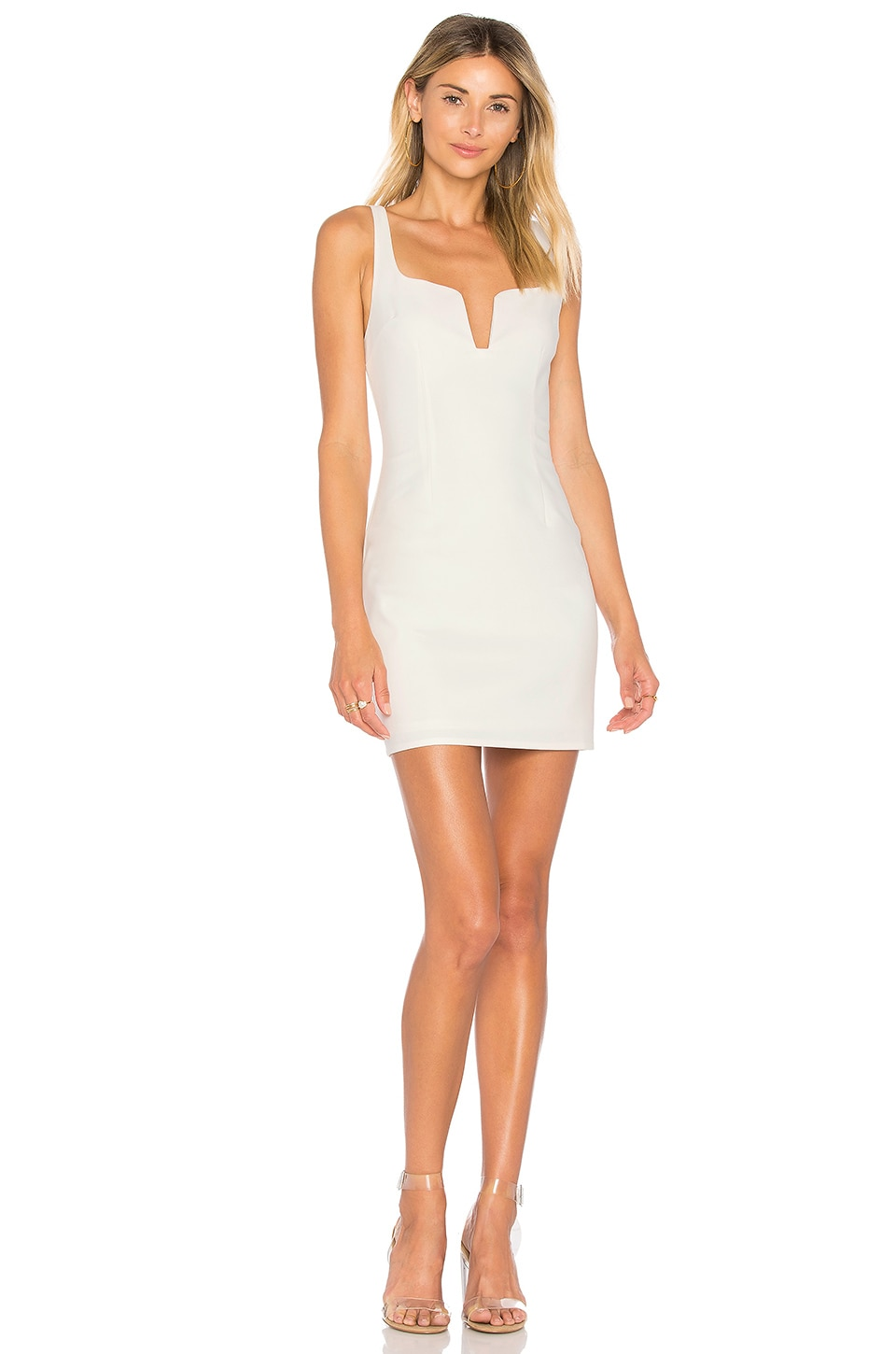 by the way. Cici Square Neck Mini Dress in Ivory