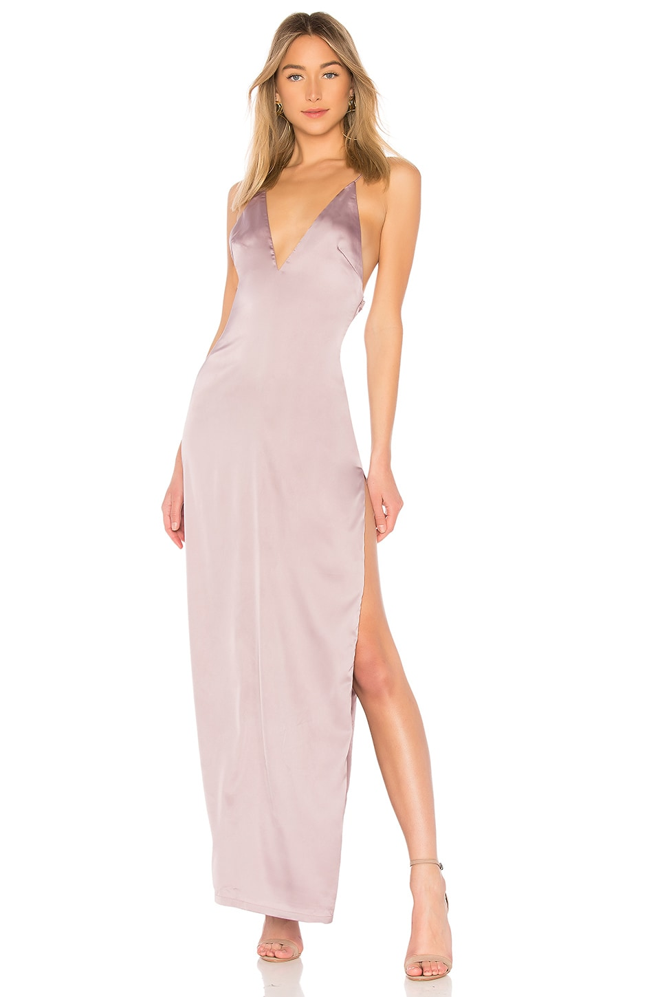 by the way. Kamari Satin Maxi in Mauve