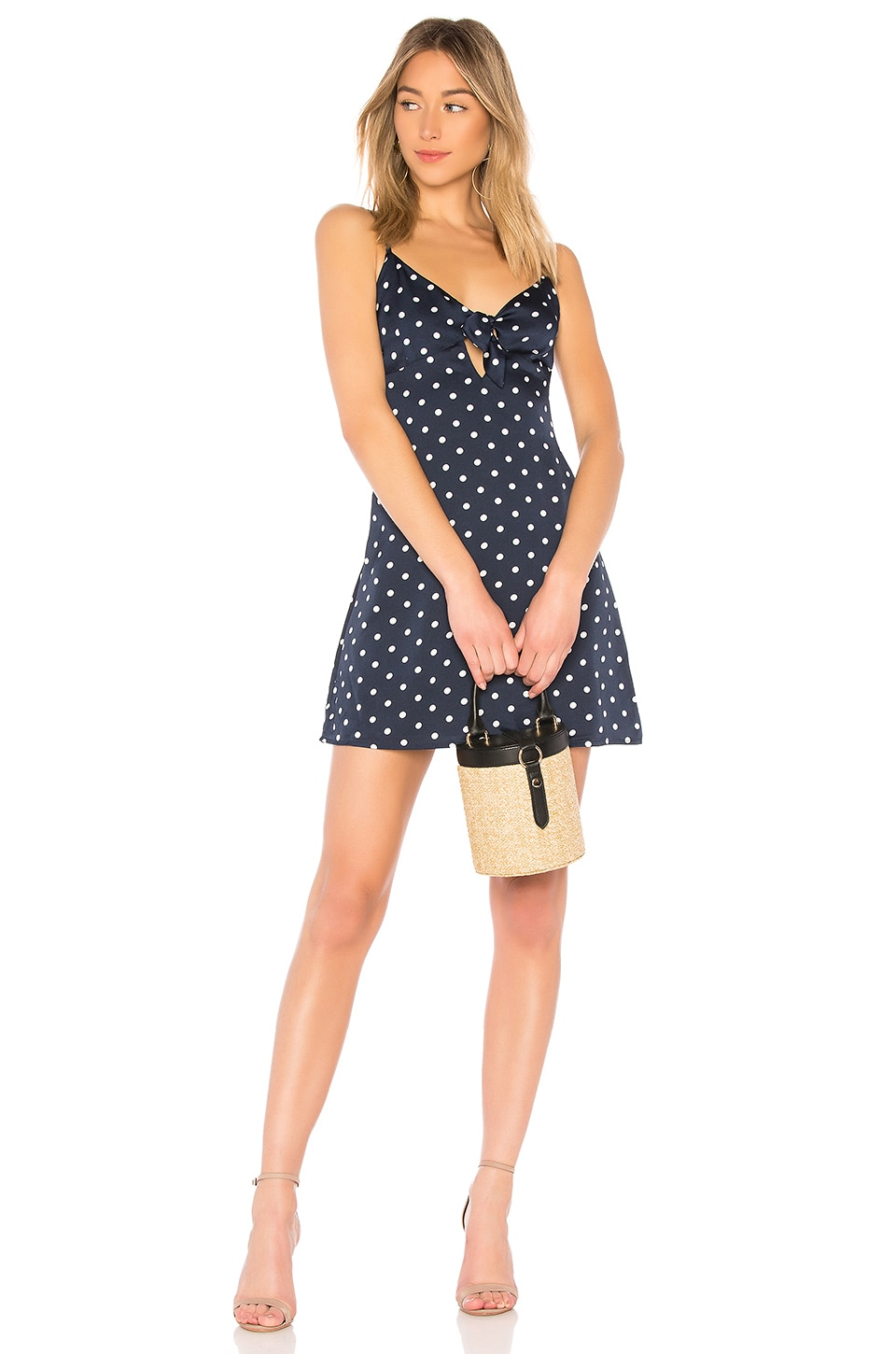 by the way. Tiara Tie Front Dress in Navy