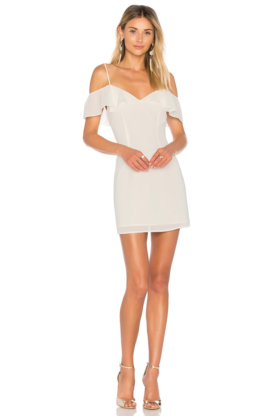 by the way. Celeste Off Shoulder Mini Dress in Ivory