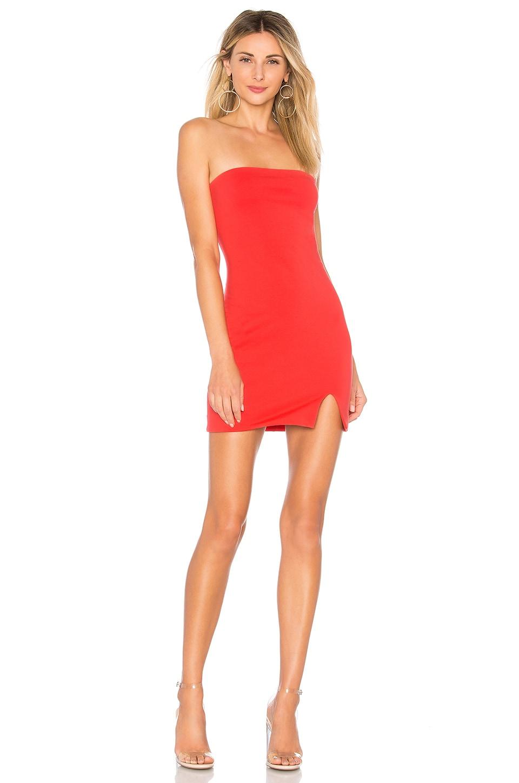 Kiera Strapless Dress in Coral. - size S (also in L,M,XL,XS,XXS) by the way.