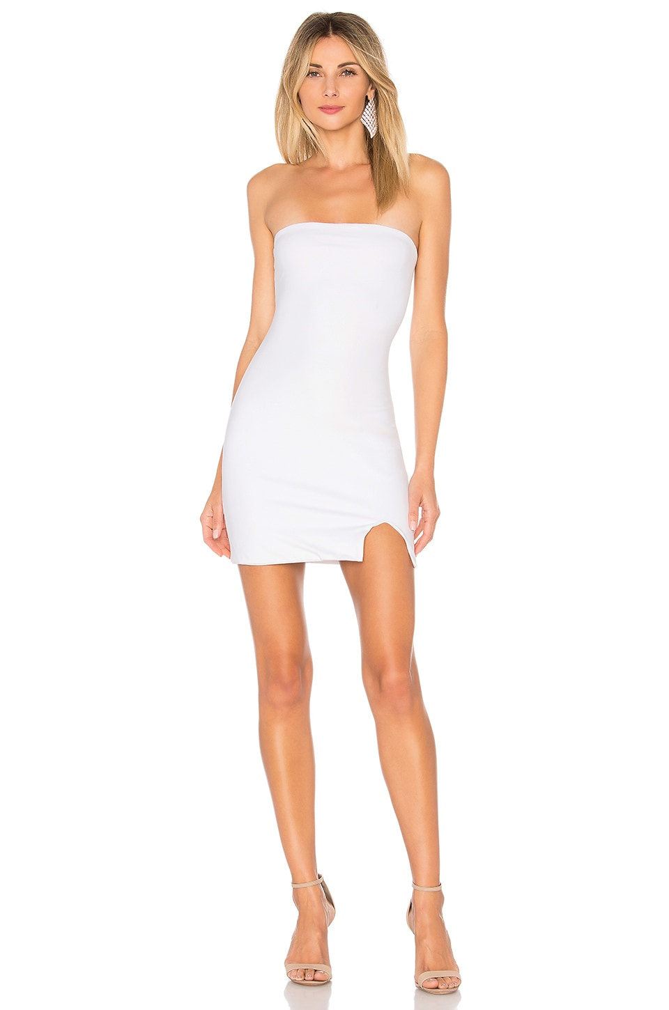 by the way. Kiera Strapless Dress in White