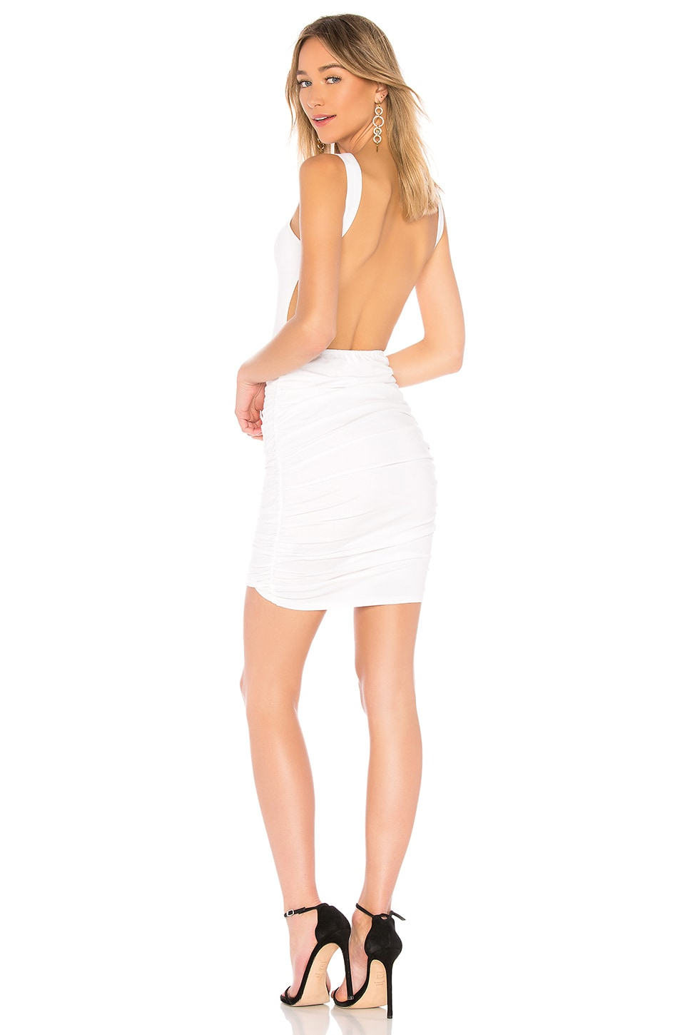 by the way. Dani Backless Dress in White