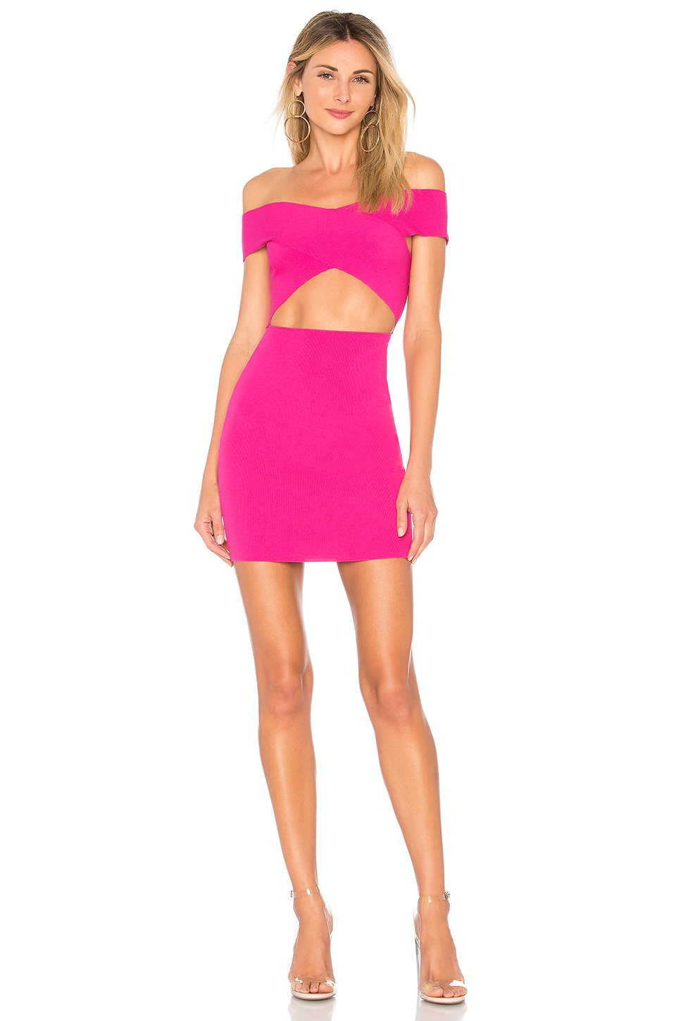 superdown Hallie Cut Out Mini in Hot Pink