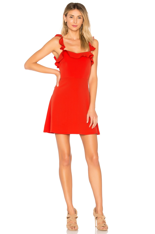 superdown Peyton Ruffle Cami Dress in Poppy