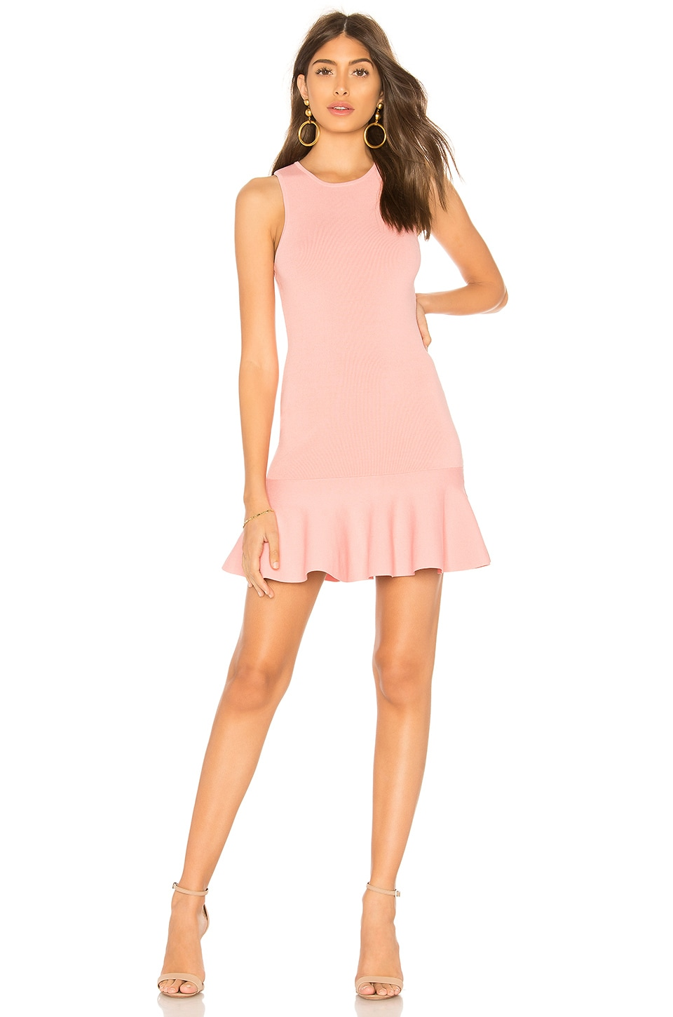 superdown Jazzie Ruffle Dress in Blush
