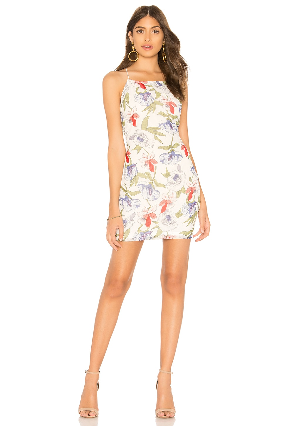 by the way. Kallie Floral Print Dress in White Multi