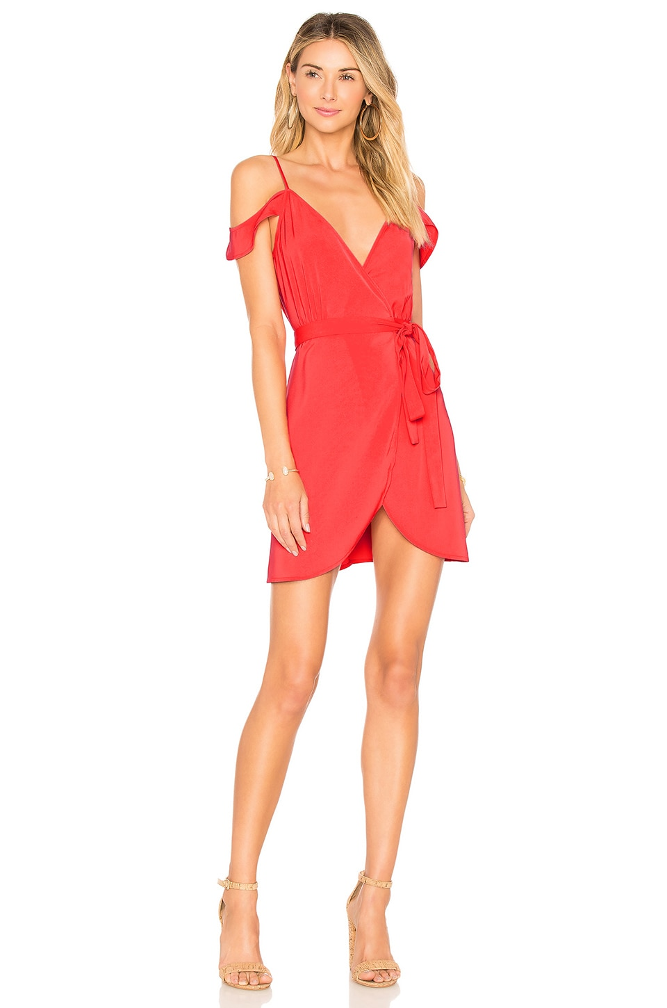 by the way. Arabella Wrap Dress in Coral