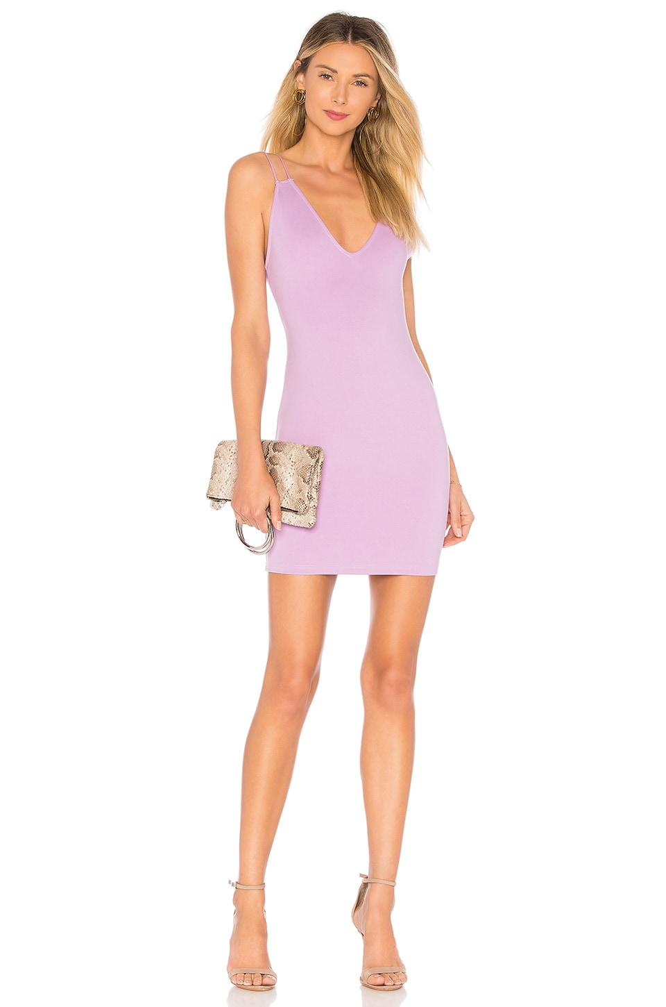 by the way. Aria Bodycon Mini Dress in Lavender