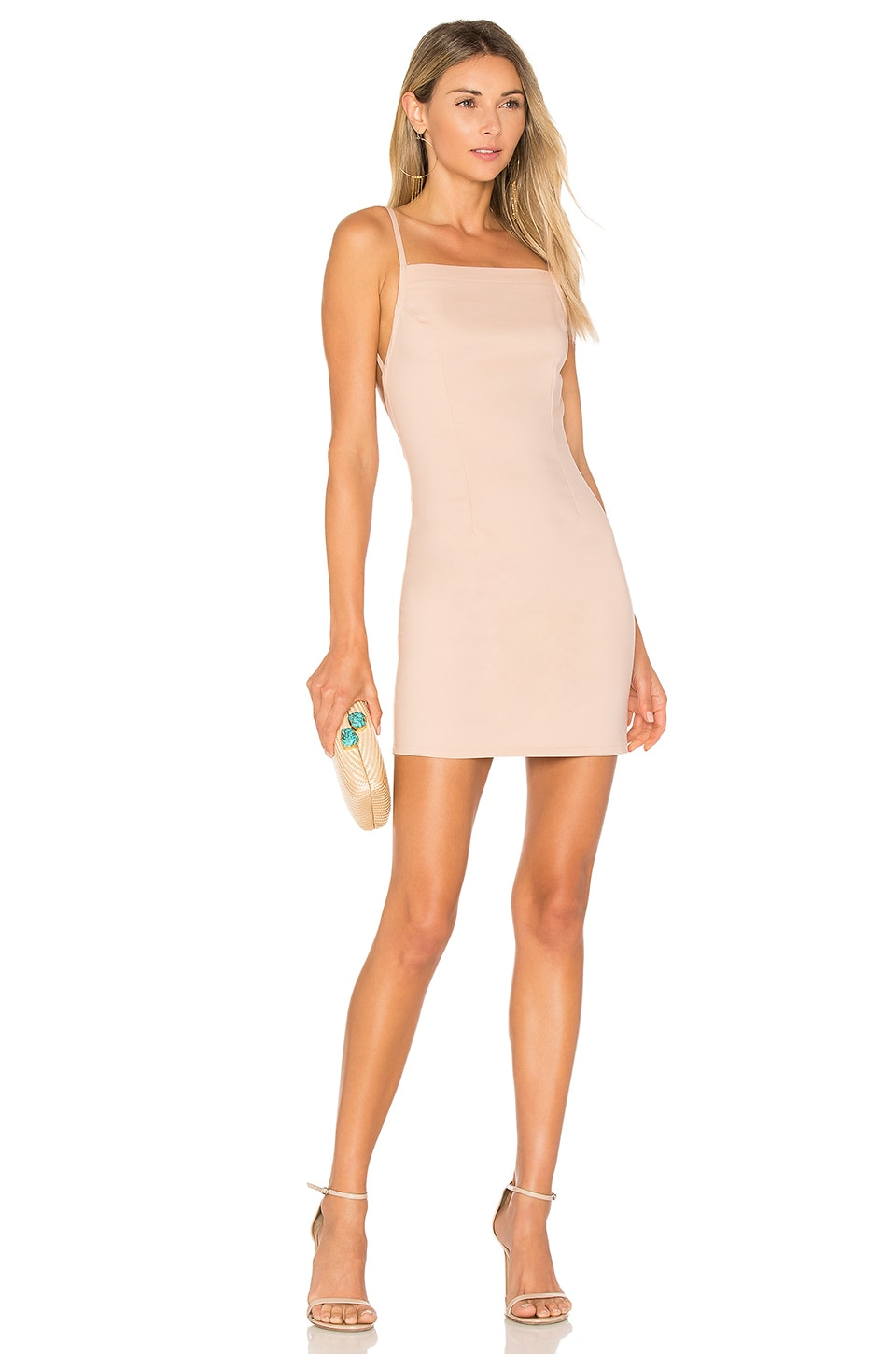 by the way. Petra Backless Mini Dress in Blush