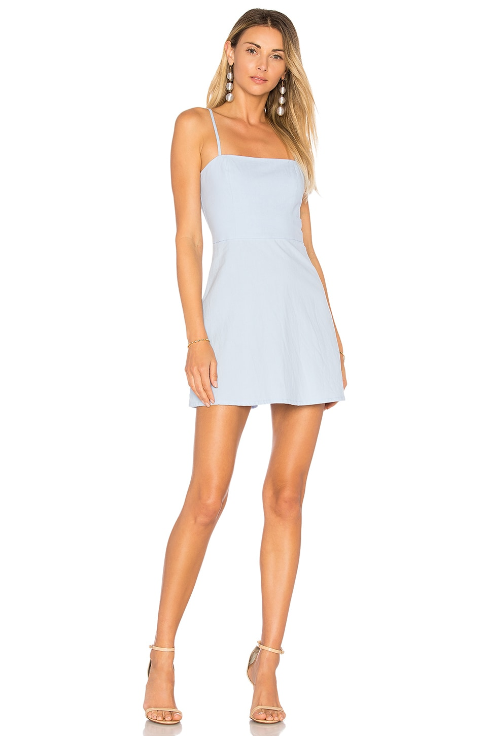 superdown Vienna A-Line Mini Dress in Light Blue
