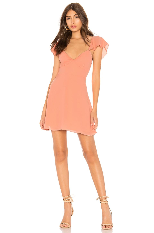by the way. Noleen Chiffon Dress in Peach Chiffon