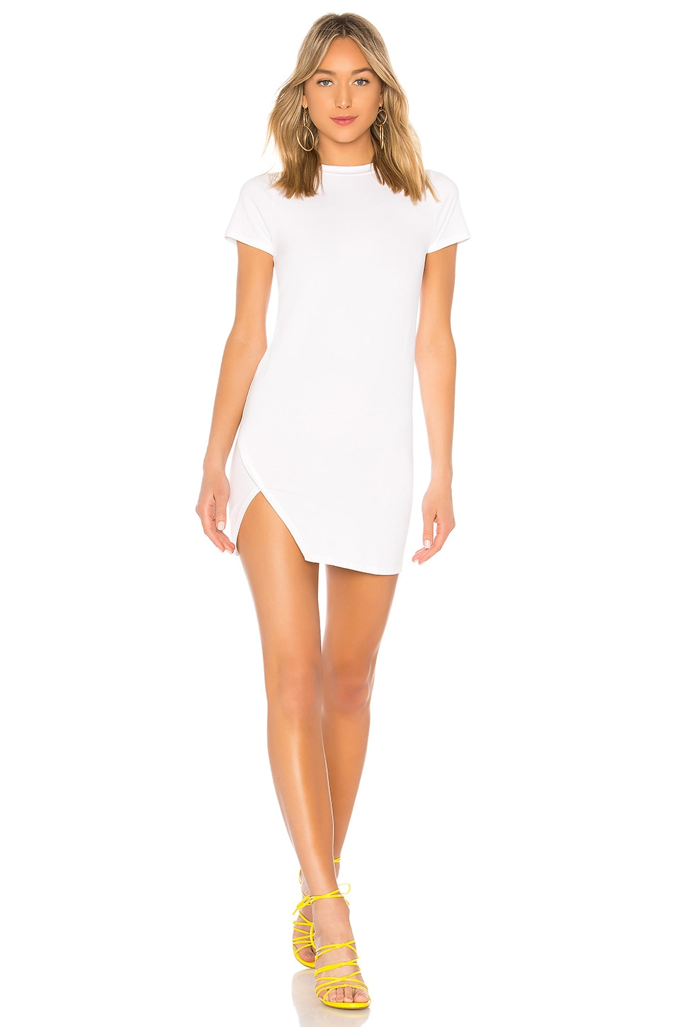 superdown Destiny Slit Dress in White