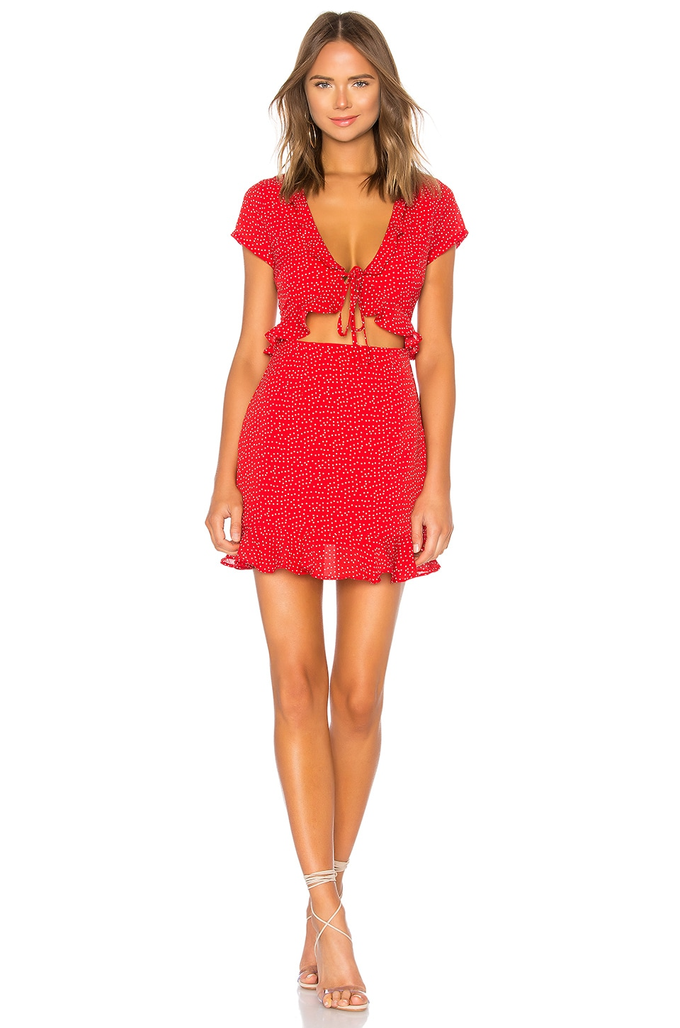 e07275a172 superdown Mercy Polka Dot Dress in Red | REVOLVE
