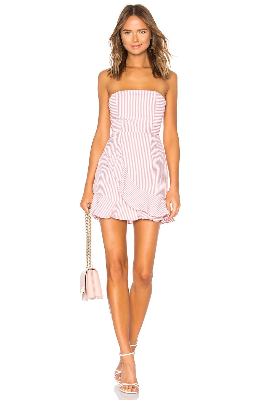 by the way. Rosalie Stripe Ruffle Dress in Pink Stripe