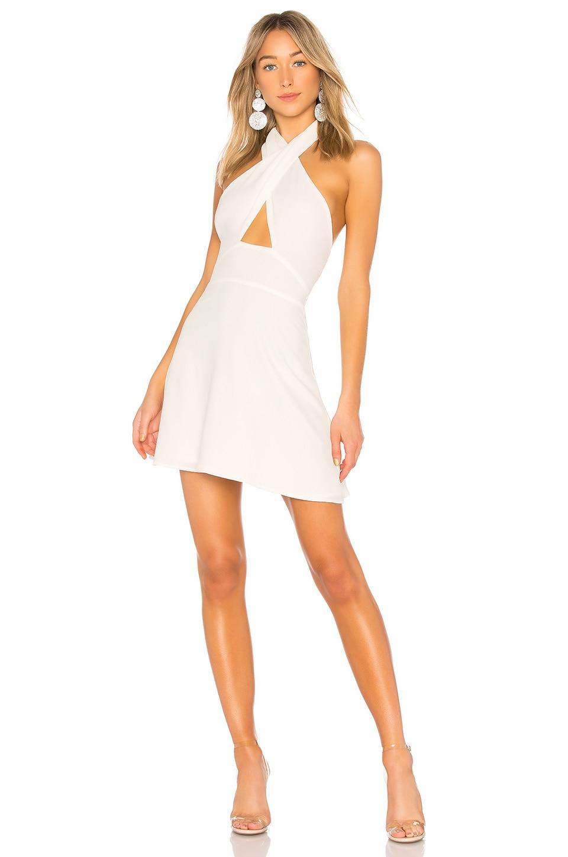 superdown Ember Halter Fit & Flare Dress in White