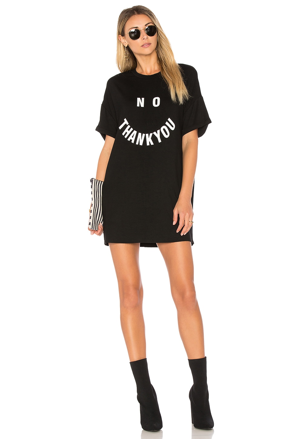 by the way. Clary T-Shirt Dress in Black