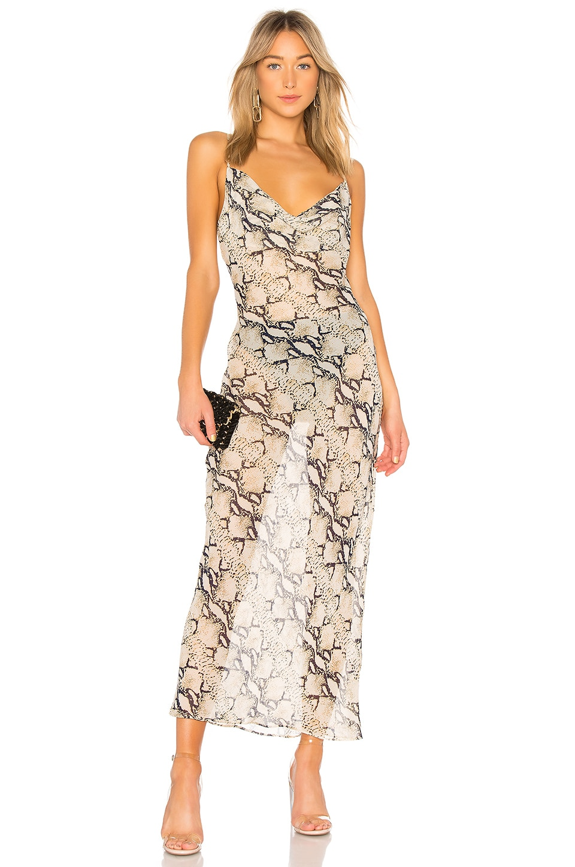 Dina Draped Maxi Dress