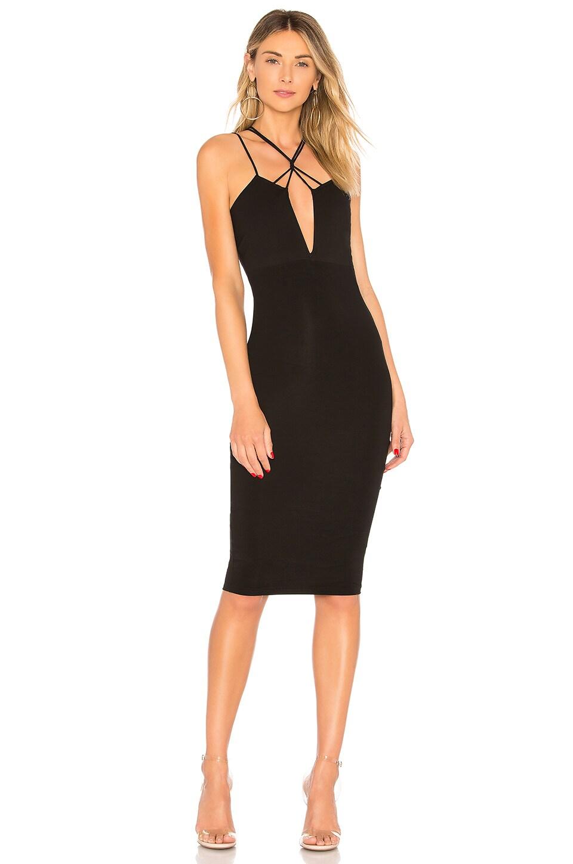 Stephie V Wire Strappy Midi Dress