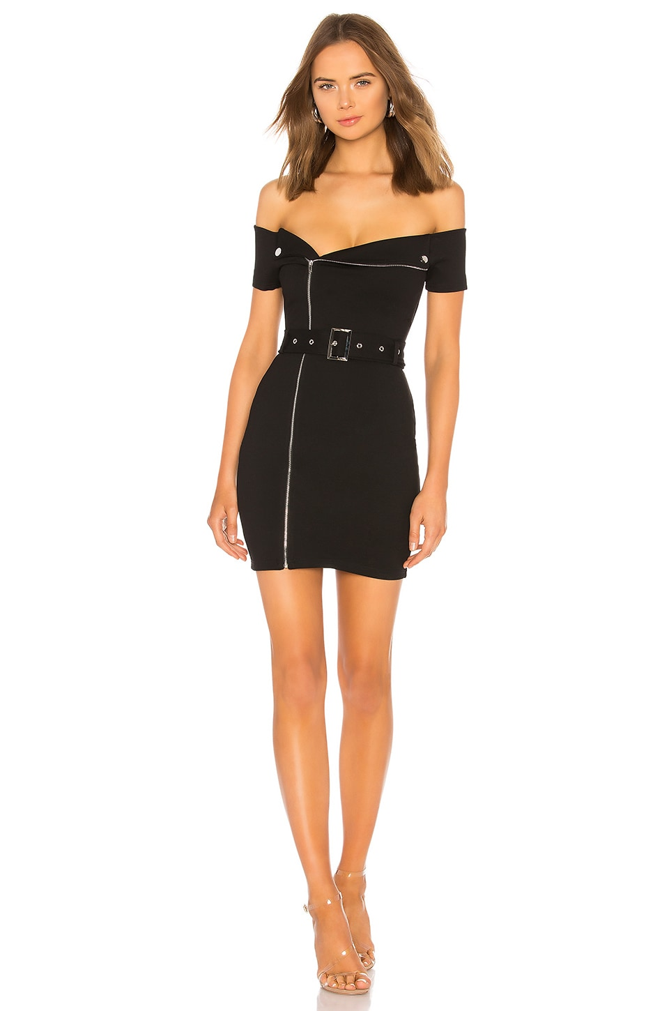 superdown Terri Moto Dress in Black