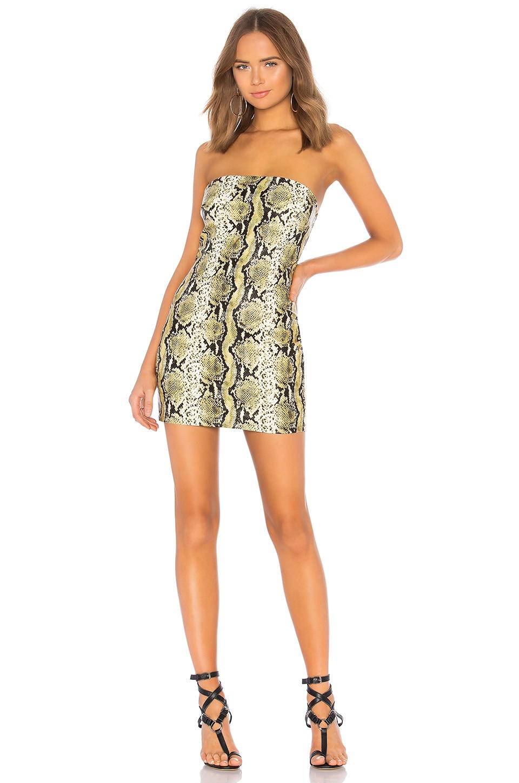 Mona Snake Print Tube Dress