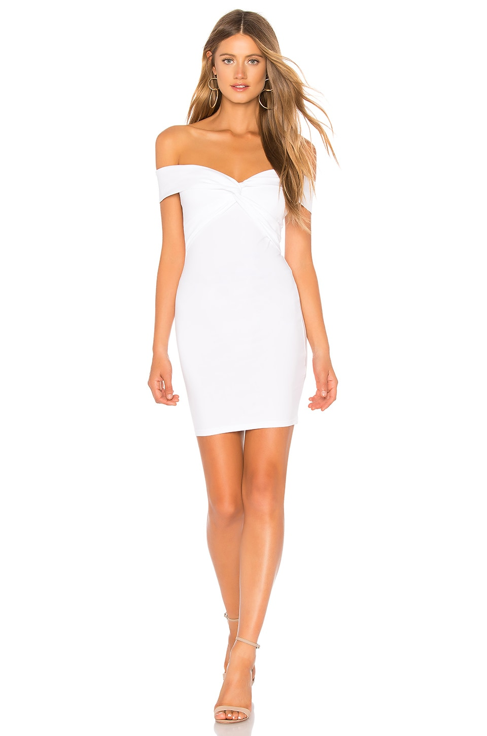 by the way. Yumi Off Shoulder Knot Dress in White