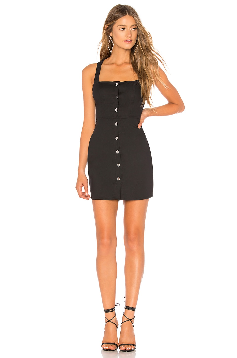 by the way. Demi Button Up Mini Dress in Black