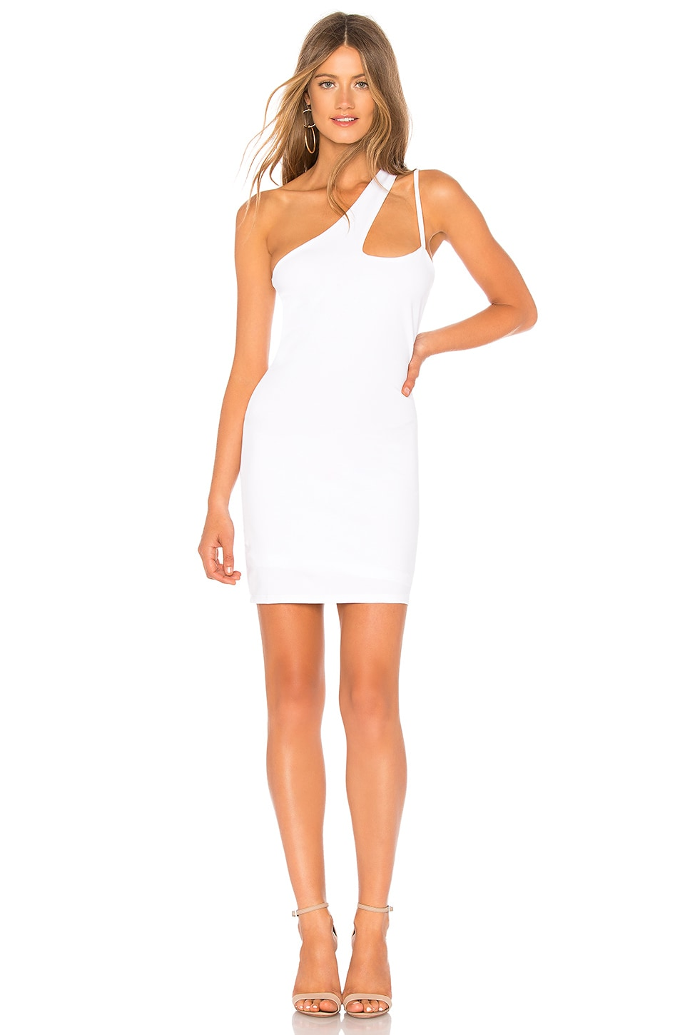 by the way. Simone Asymmetrical Dress in White