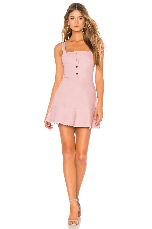 superdown Carmen Denim Button Up Dress in Blush Denim