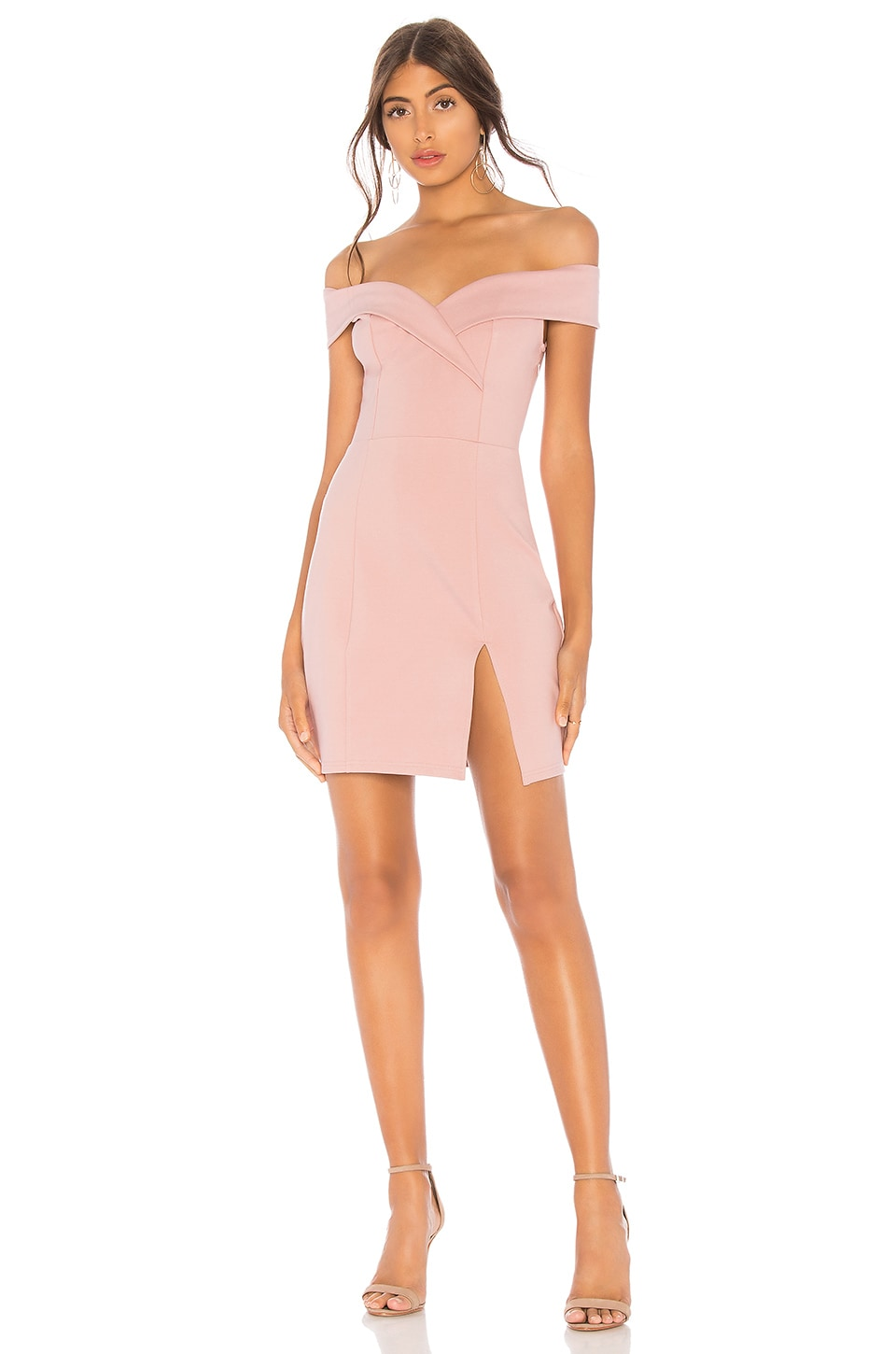 superdown Naya Off Shoulder Dress in Mauve