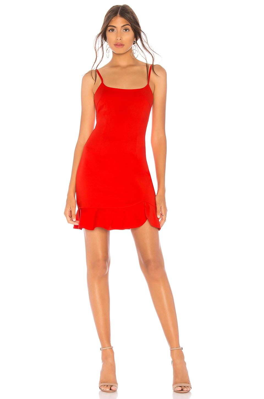 superdown Shayla Ruffle Mini Dress in Orange