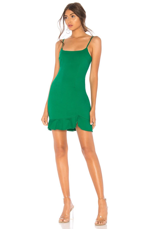 superdown Shayla Ruffle Mini Dress in Kelly Green