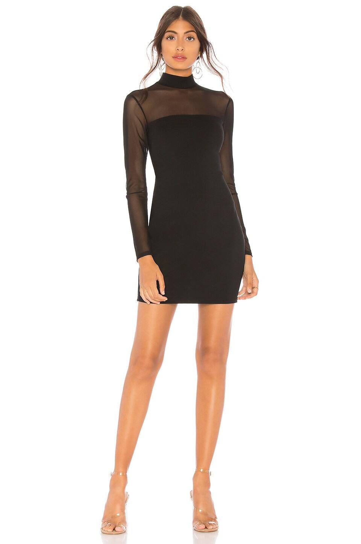 47732e7be8d superdown Preston Mesh Mock Neck Dress in Black