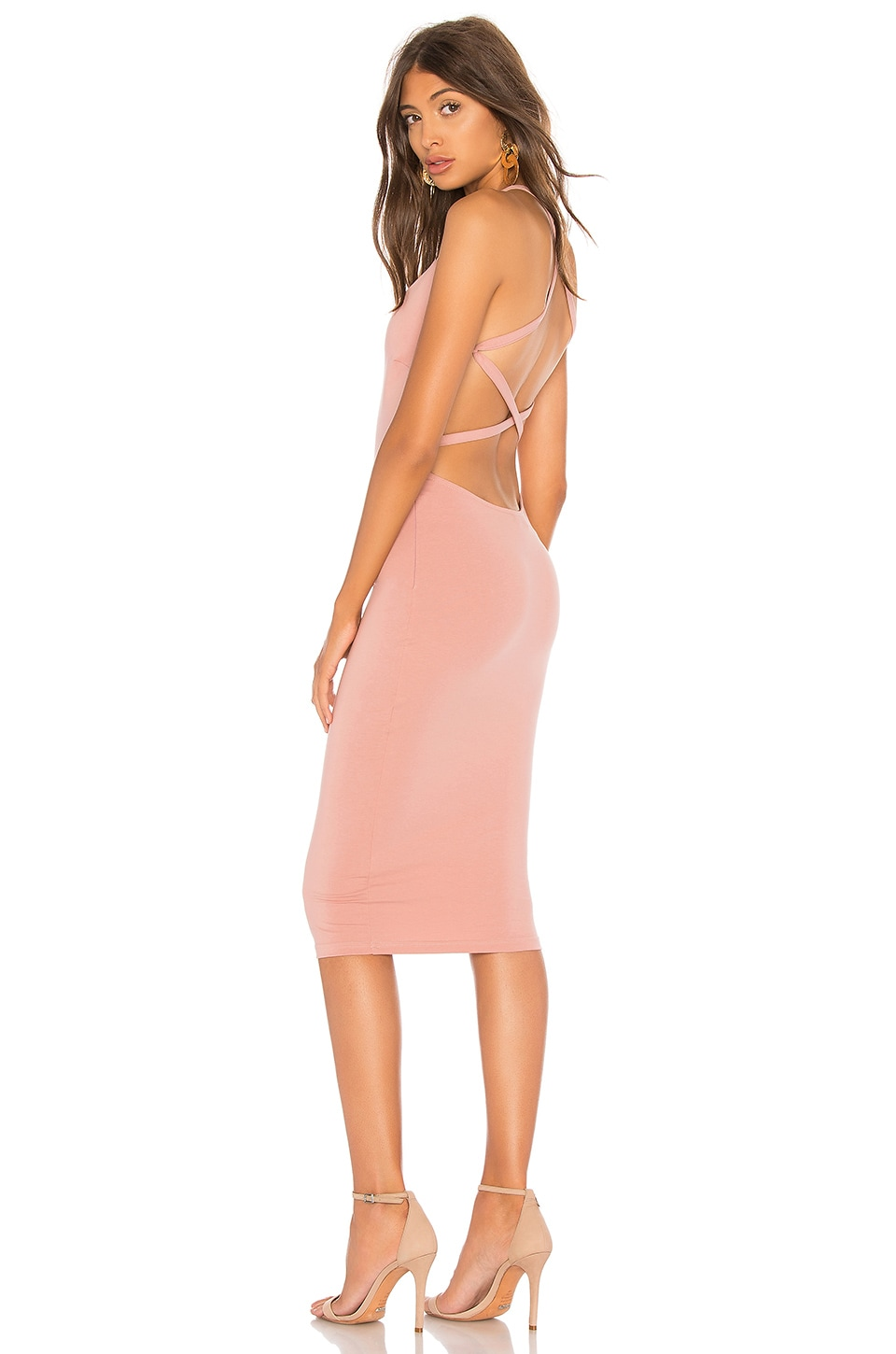 by the way. Reigh Strappy Midi Dress in Mauve