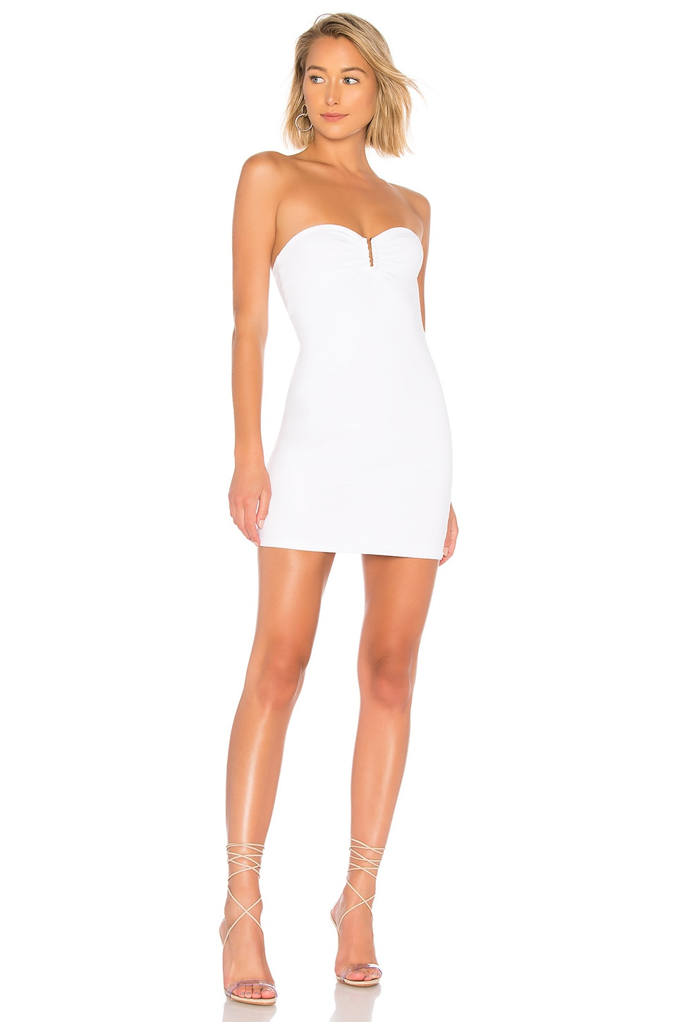 by the way. Evelyn U Ring Strapless Bodycon Dress in Ivory